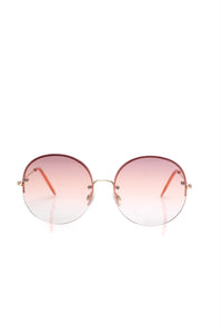 In All The Feels Sunglasses - Gold/pink Angle 2