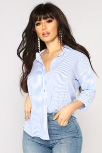 Parker Striped Shirt - Blue/White