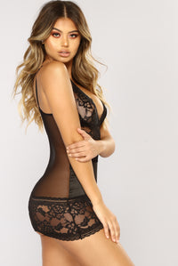 Naughty Girl Chemise - Black Angle 2