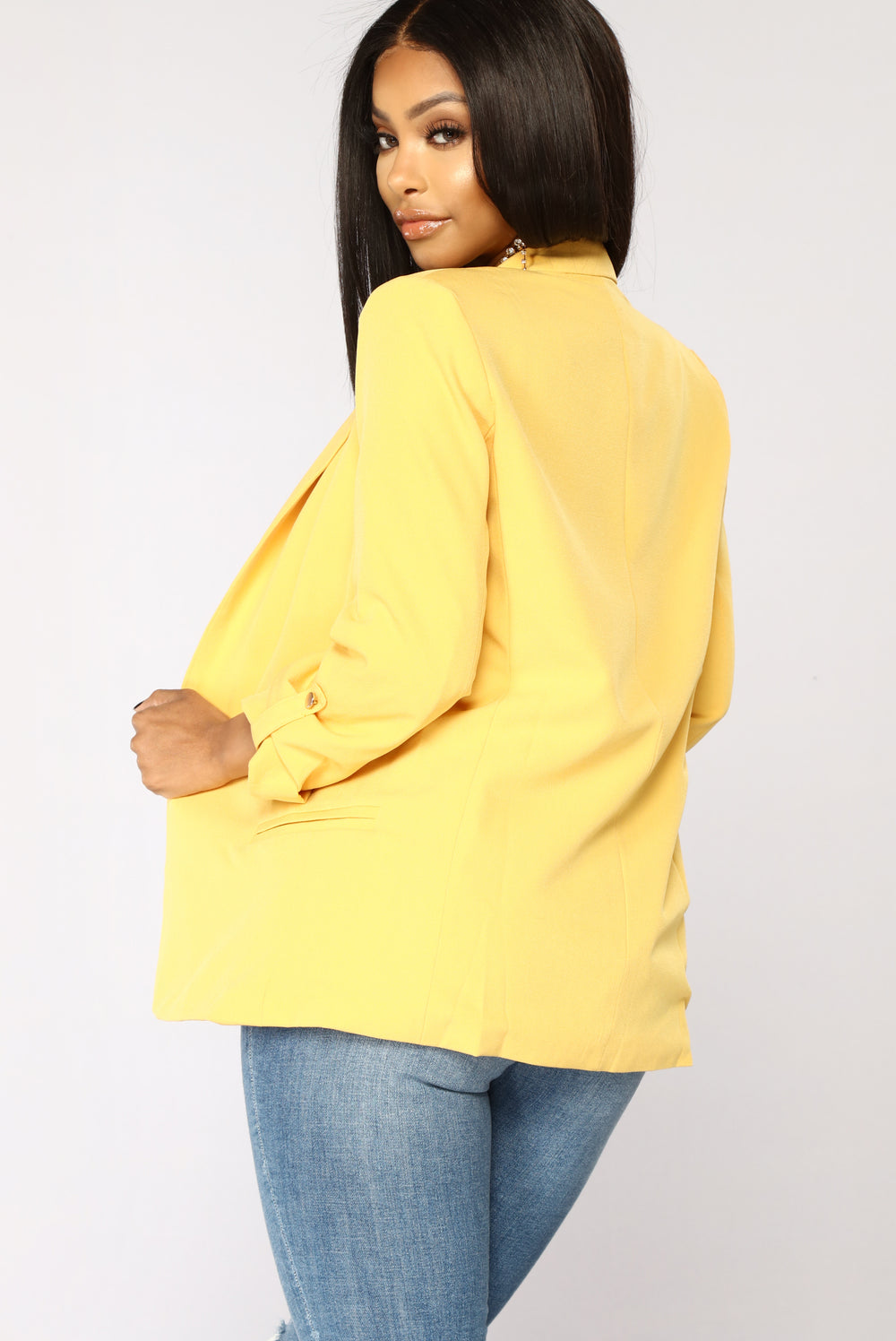 Business AF Blazer - Yellow