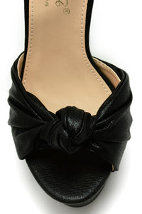 Knot About It Heel - Black