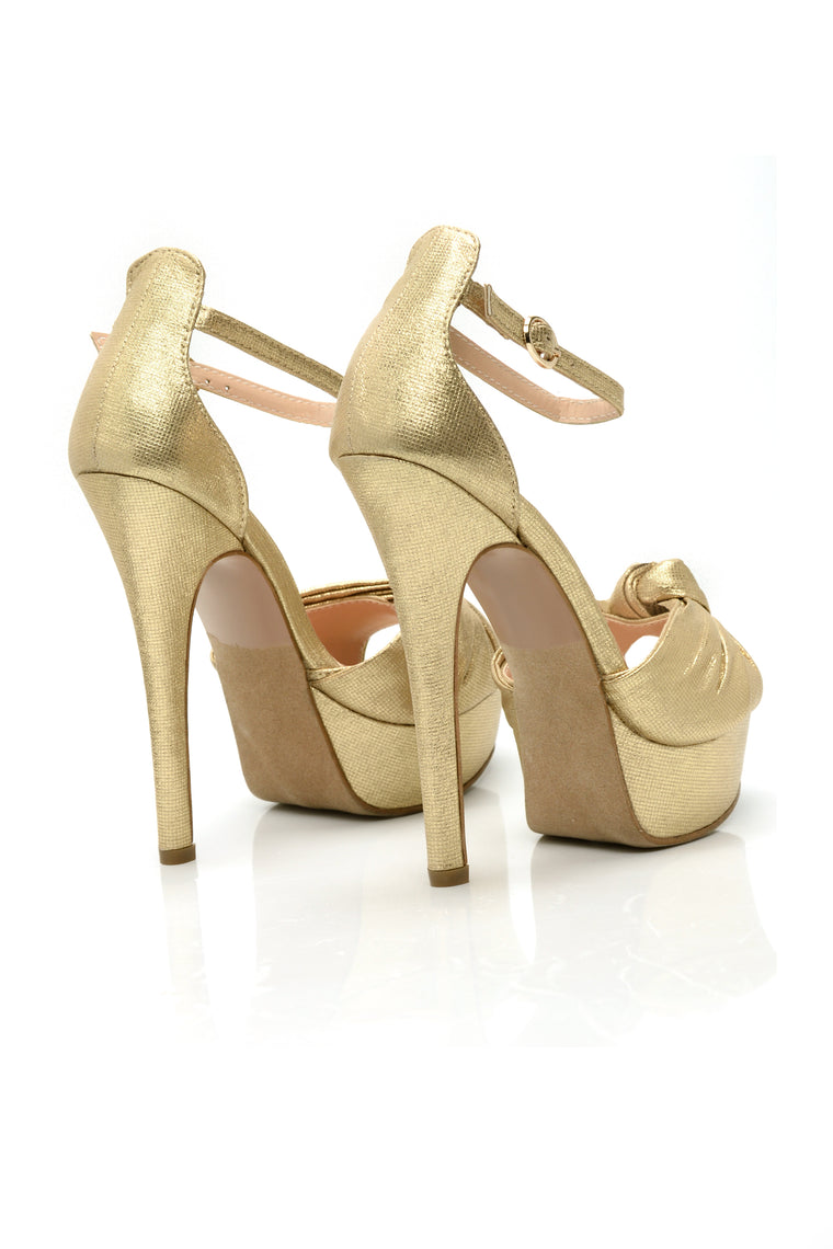 Knot About It Heel - Gold