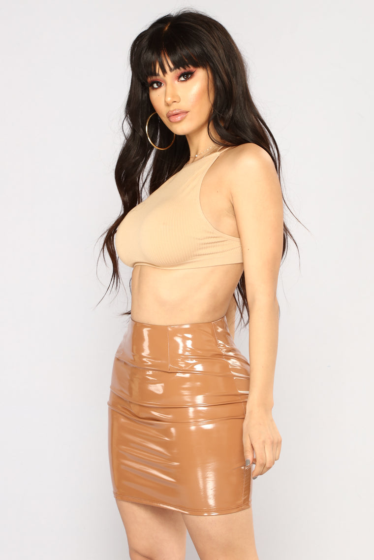 Sweetest Devotion Seamless Crop Top - Nude