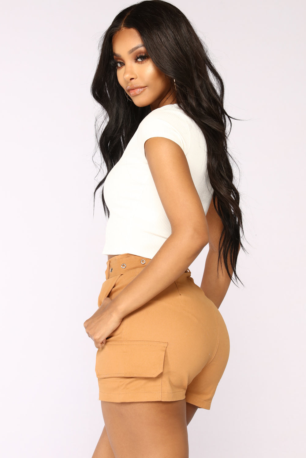 Get Like Me Scoop Neck Crop Top - Ivory