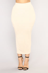 Eye Heart Sigh Skirt Set - Mocha/Taupe Angle 3