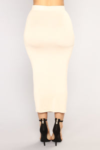 Eye Heart Sigh Skirt Set - Mocha/Taupe Angle 8