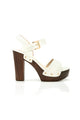Block Queen Heel - White
