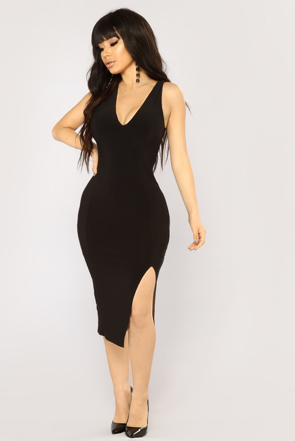 First Date Midi Dress - Black