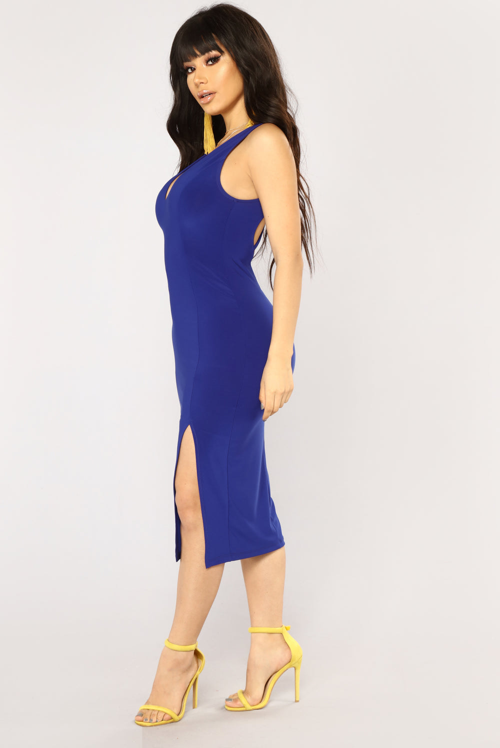 First Date Midi Dress - Royal
