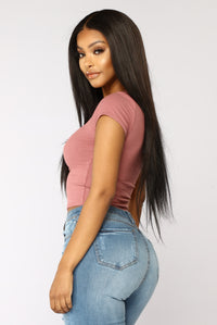 Jaclyn Crop Top - Mauve
