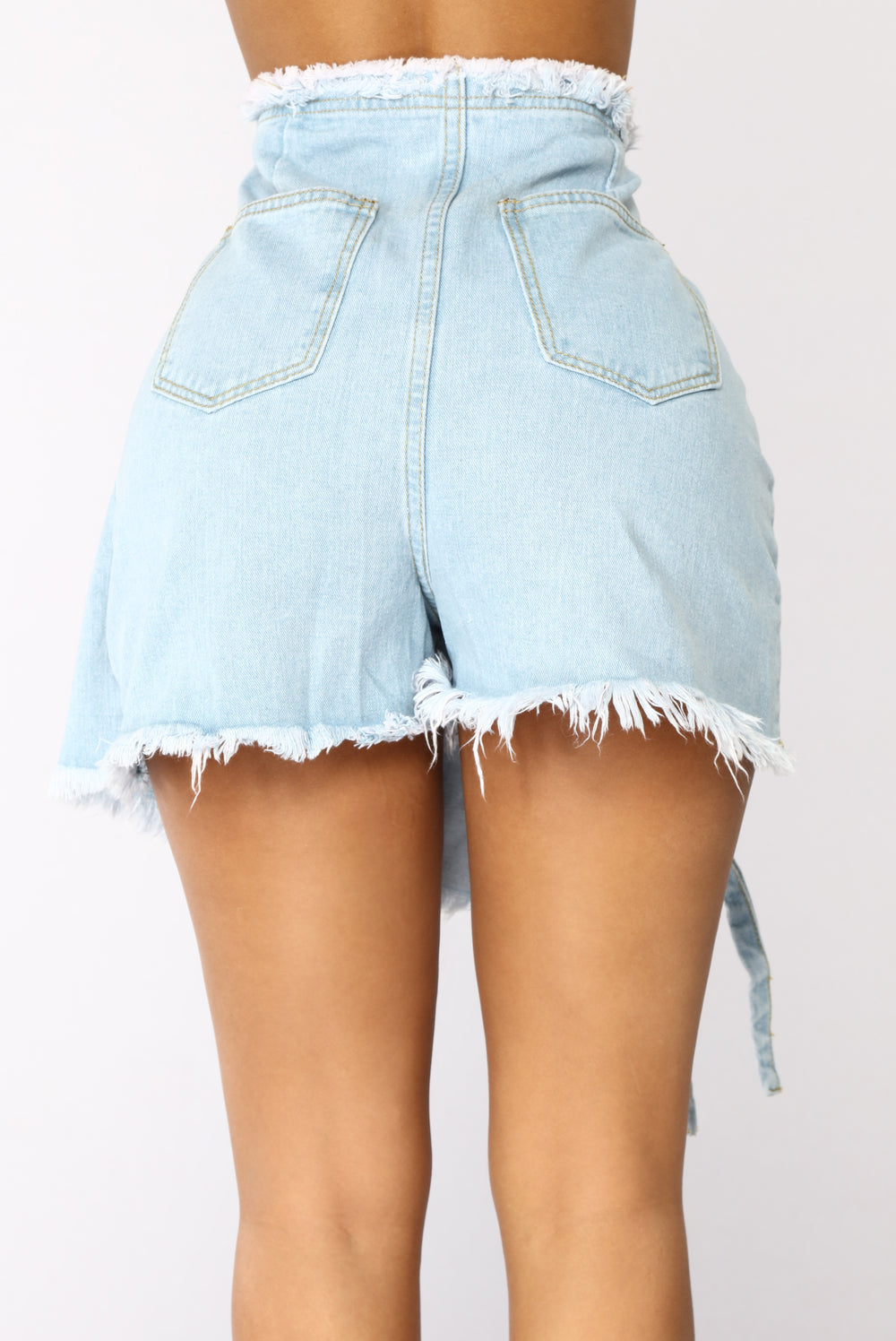 Bye High Rise Skort - Light Blue