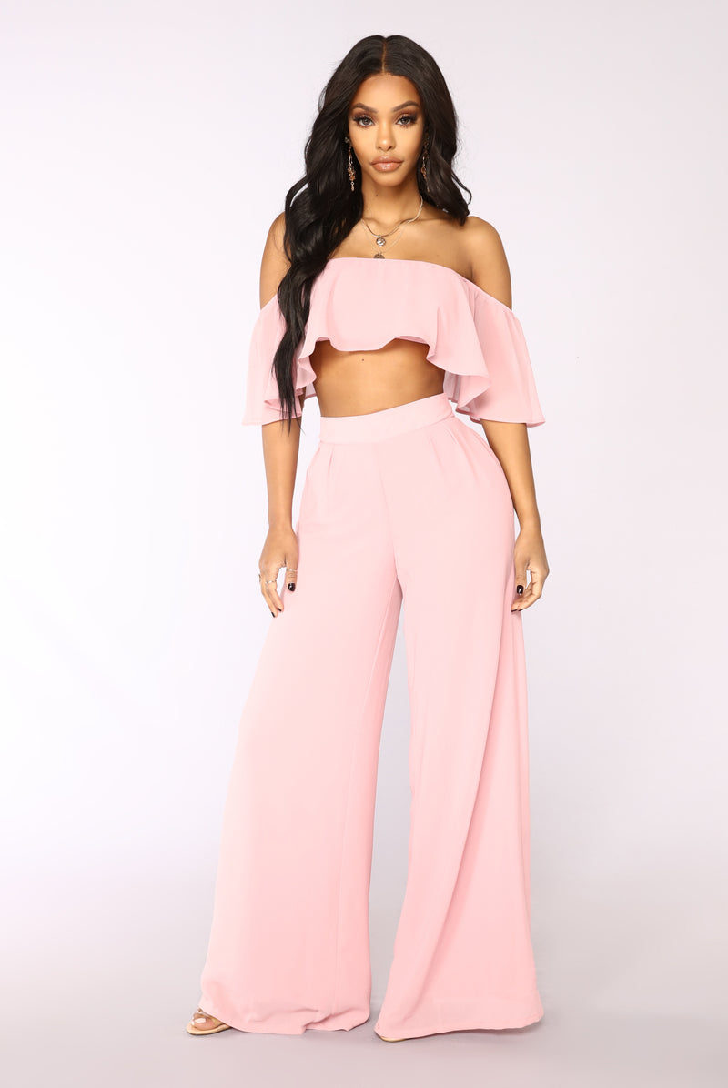 Low Rider Pant Set - Dusty Pink