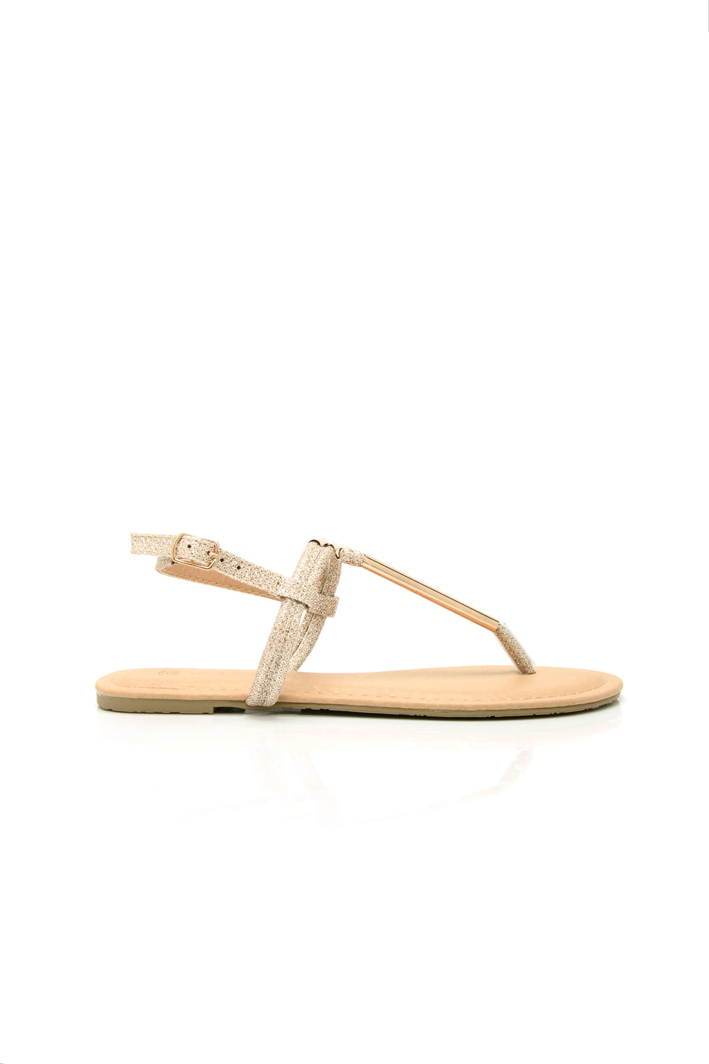 Glitter Gaze Sandal - Rose Gold