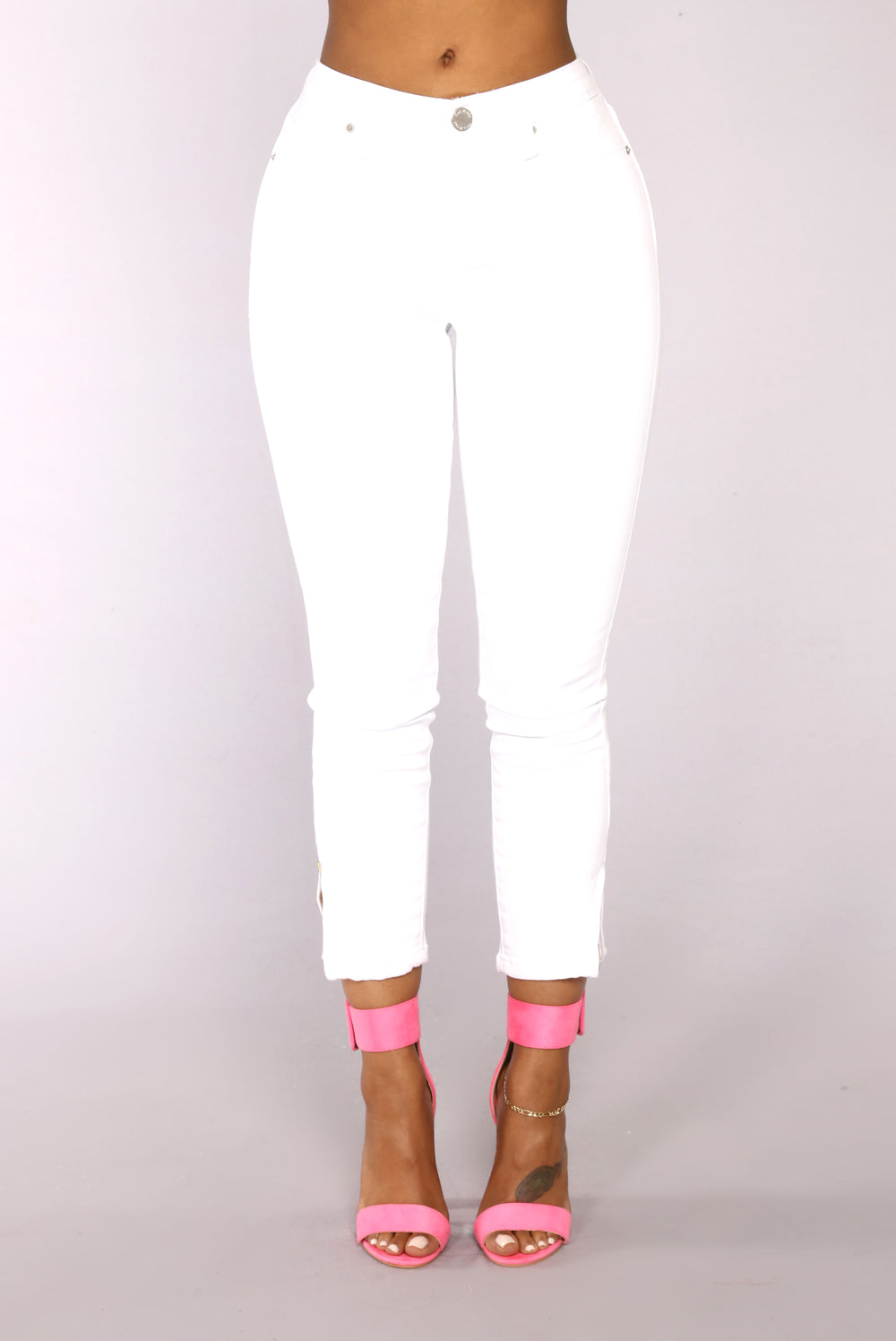 Cross Your Mind Jeans - White