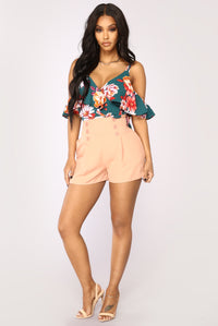 Let It Linger Shorts - Blush