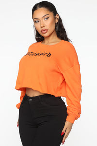 Beyond Blessed Top - Orange Angle 3