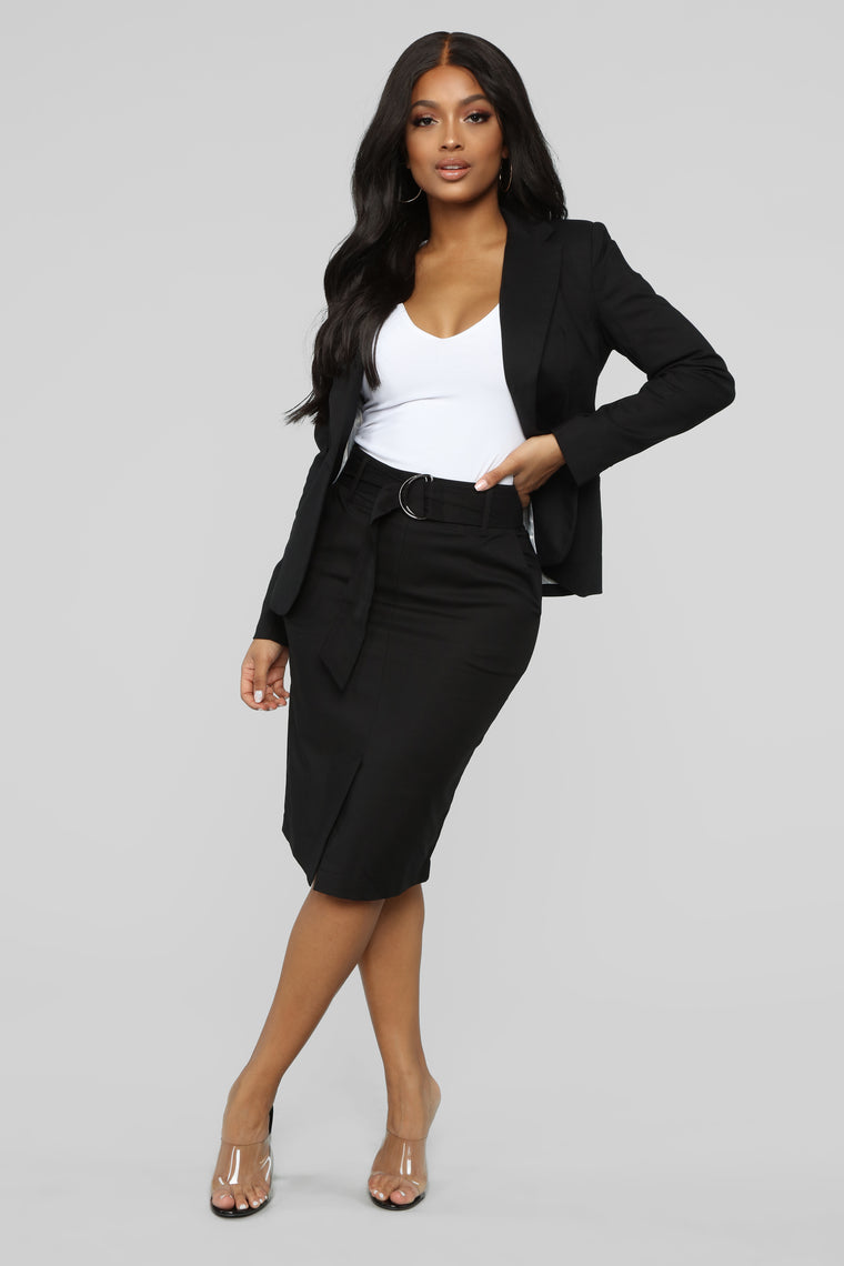 Planning For Success Blazer Set - Black