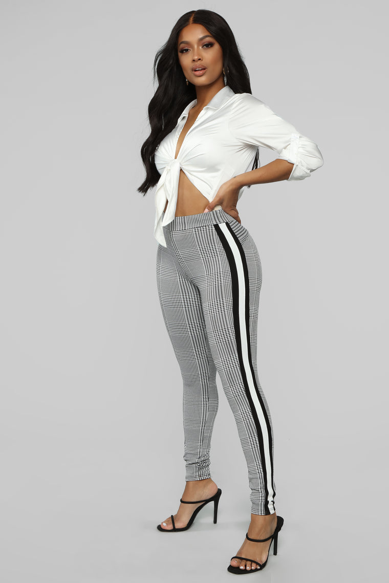e846a5d025d Wrapped Around My Finger Pull On Pant Black White by Fashion Nova