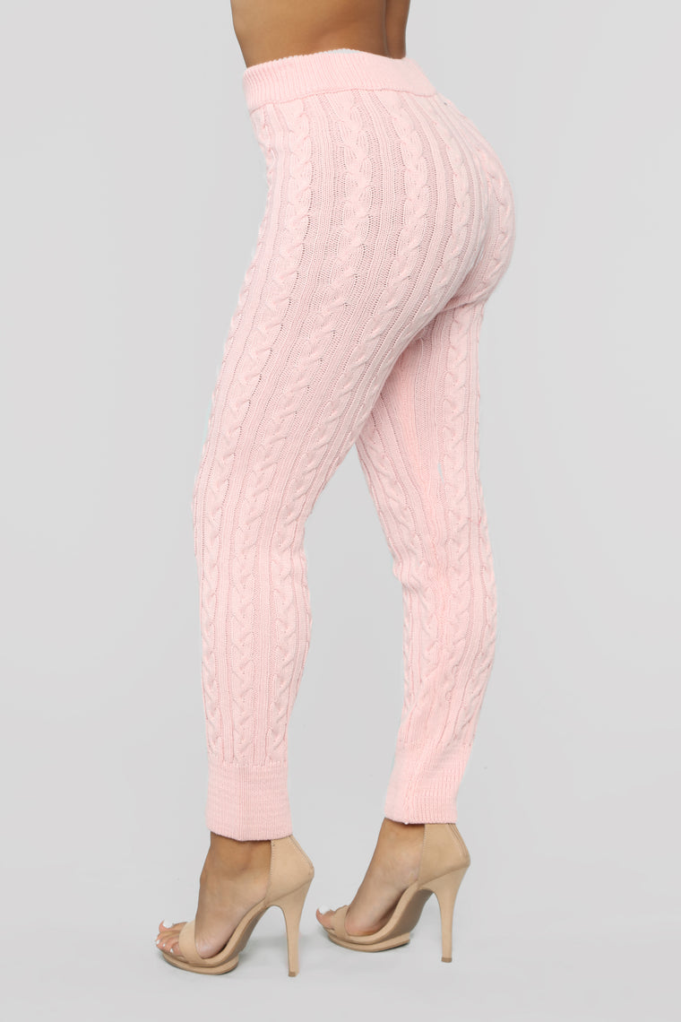 Meet Me Half Way Leggings - Blush