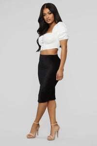 Almost Doesn't Count Midi Skirt - Black Angle 3