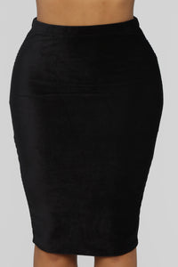 Almost Doesn't Count Midi Skirt - Black Angle 1