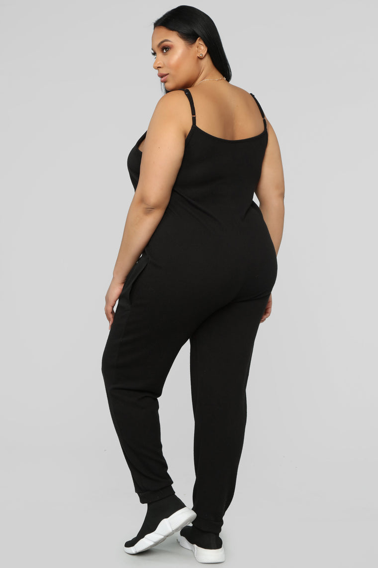 While You Are Away Jumpsuit - Black