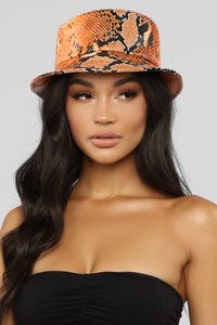 Bite Me Bucket Hat - Orange