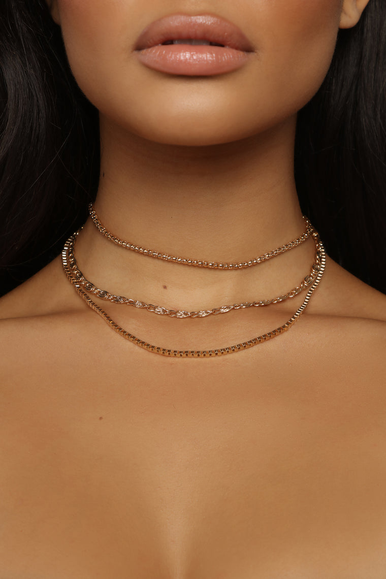 Layer Up Necklace - Gold