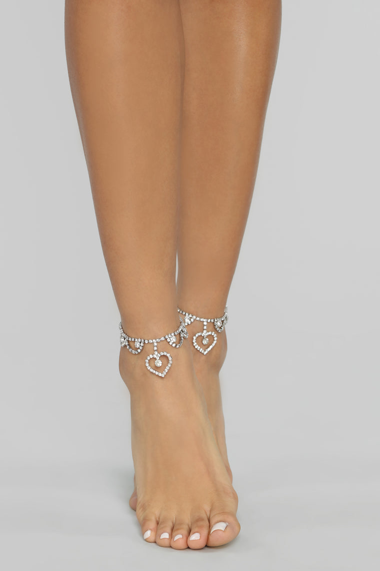 A Lovely Night Anklet Set - Silver