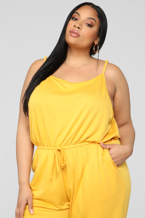 1abae28479b Stay Inside Jumpsuit - Mustard. Notify Me When Available
