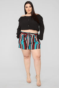 Malibu Lagoon Striped Shorts - MultiColor Angle 7