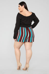 Malibu Lagoon Striped Shorts - MultiColor Angle 11