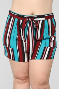 Malibu Lagoon Striped Shorts - MultiColor Angle 8