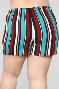 Malibu Lagoon Striped Shorts - MultiColor Angle 12