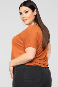 Dream On Short Sleeve Top - Rust Angle 8