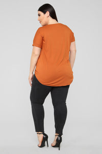 Dream On Short Sleeve Top - Rust Angle 10