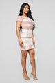 Here With Me Tie Dye Mini Dress - Mauve/White