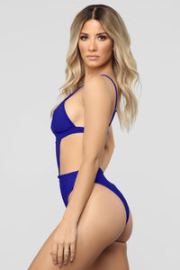 Bringing Sexy Back Cut Out Swimsuit - Royal