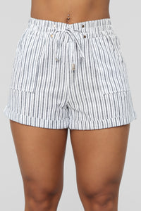 Redondo Beach Striped Shorts - Black/White