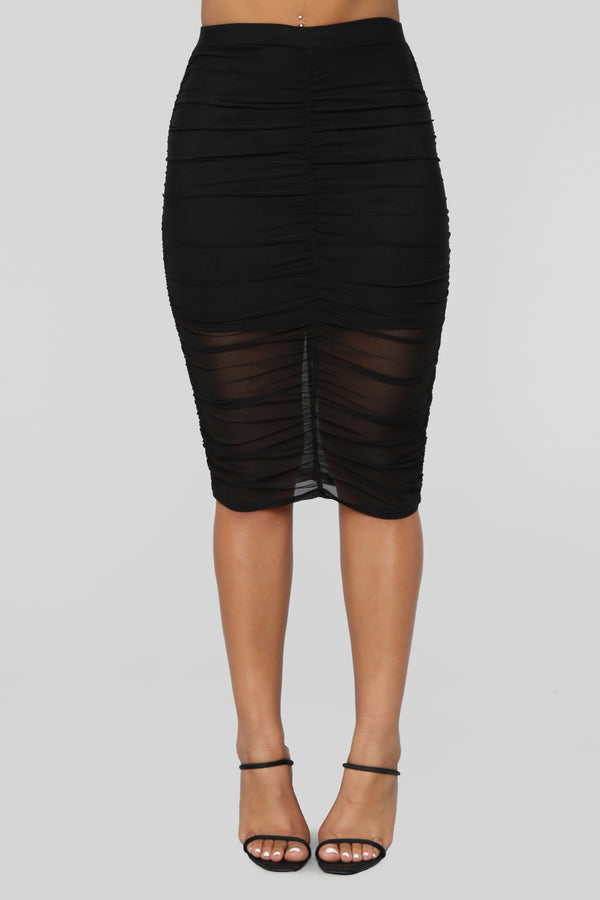 61f9585332a Breaking Hearts Midi Skirt - Black