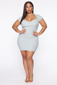 Leihla Sweater Dress - Blue Angle 4