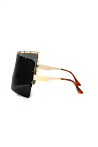 Celina Oversized Sunglasses - Gold/Black