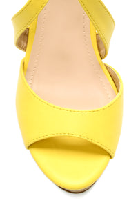 Don't Need Love Wedge - Yellow