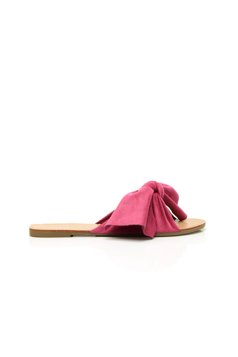 Bow Down Slide - Fuchsia
