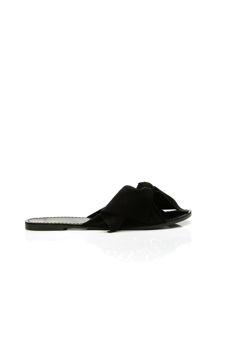Bow Down Slide - Black