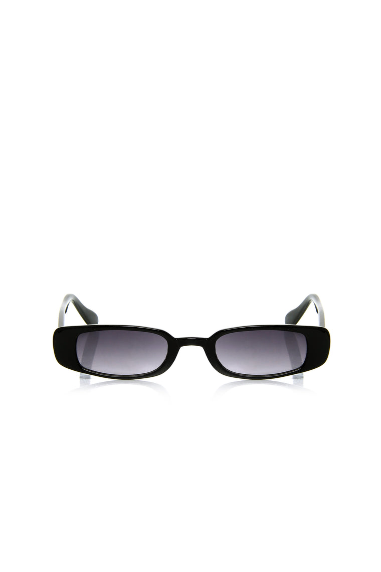Lucca Mini Square Sunglasses - Black/Smoke
