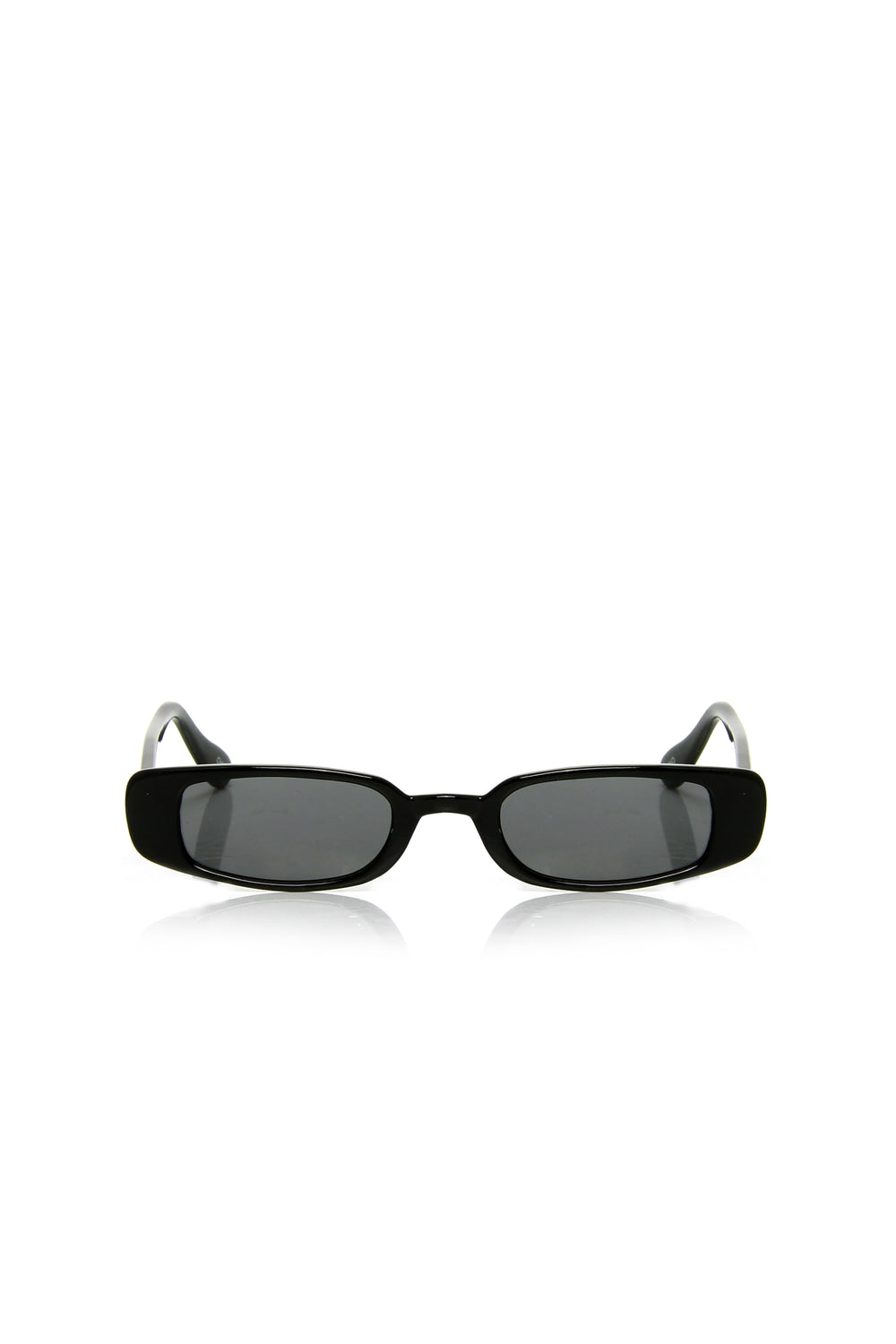Lucca Mini Square Sunglasses - Black/Black