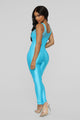 Truth Or Dare Lounge Jumpsuit - Turquoise