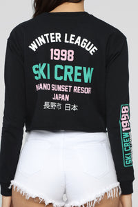 Ski Crew Sweatshirt - Black