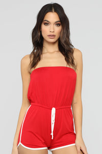 My Favorite Romper - Red/White